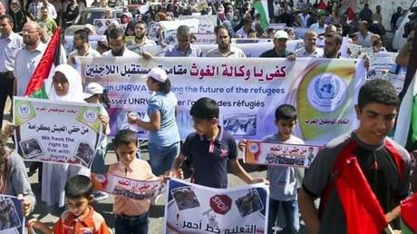 Les professeurs et élèves ont manifesté à Gaza pour dénoncé la réduction de leurs moyens.