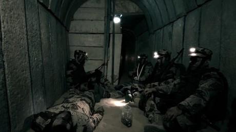La vidéo du Hamas montre des tunnels censés avoir été détruits l'an dernier.