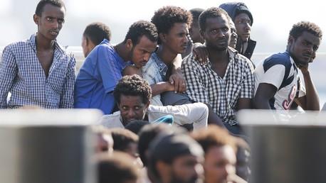 Des migrants rescapés en Méditerranée