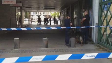 Le lieu du crime à Rinkeby