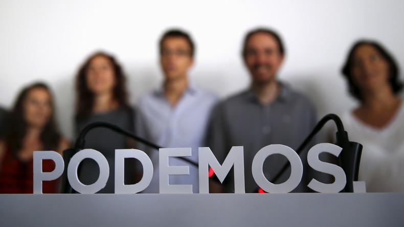Membres du parti espagnol Podemos