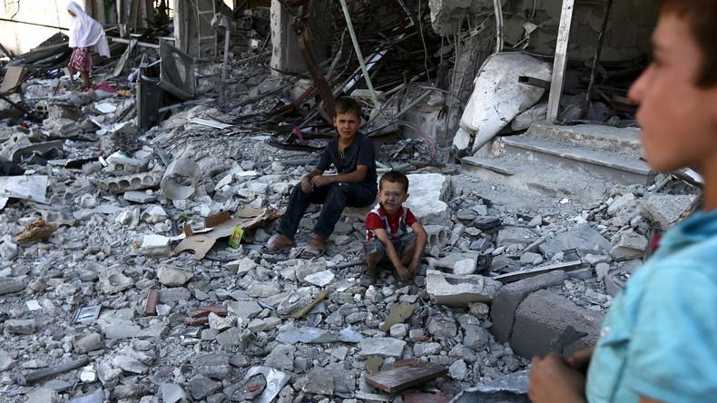Des destuctions dans la banlieue de Damas