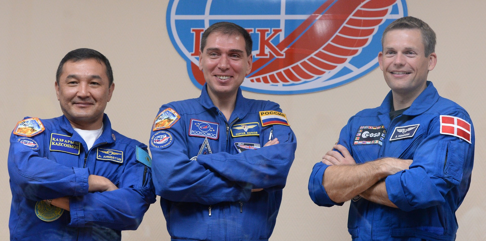 Aidyn Aimbetov, Sergueï Volkov danois Andreas Mogensen