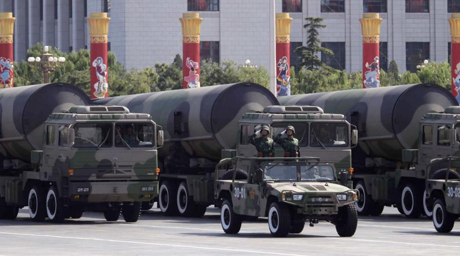 La répétion de la parade militaire à Pékin, capture d'écran d'une vidéo de RT
