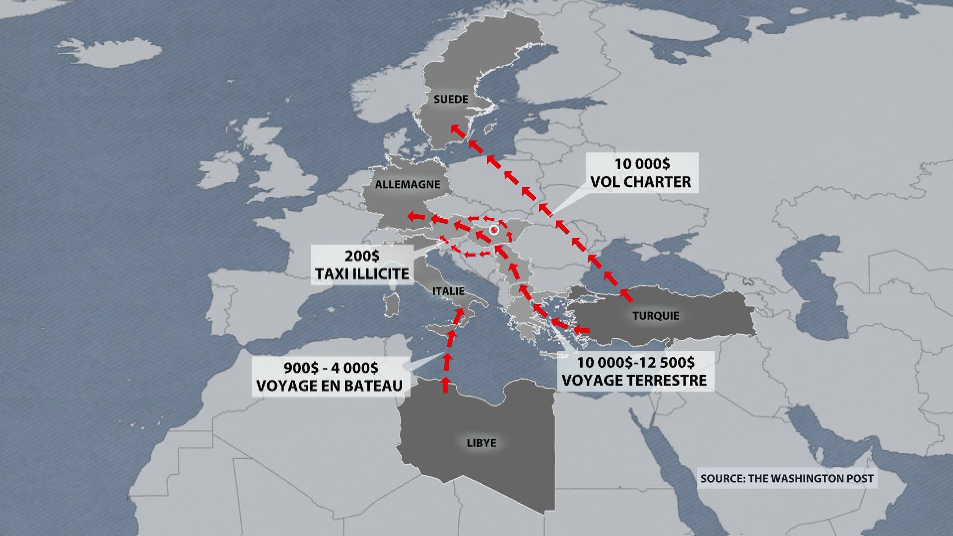 Le trafic de migrants rapporte des milliards aux criminels