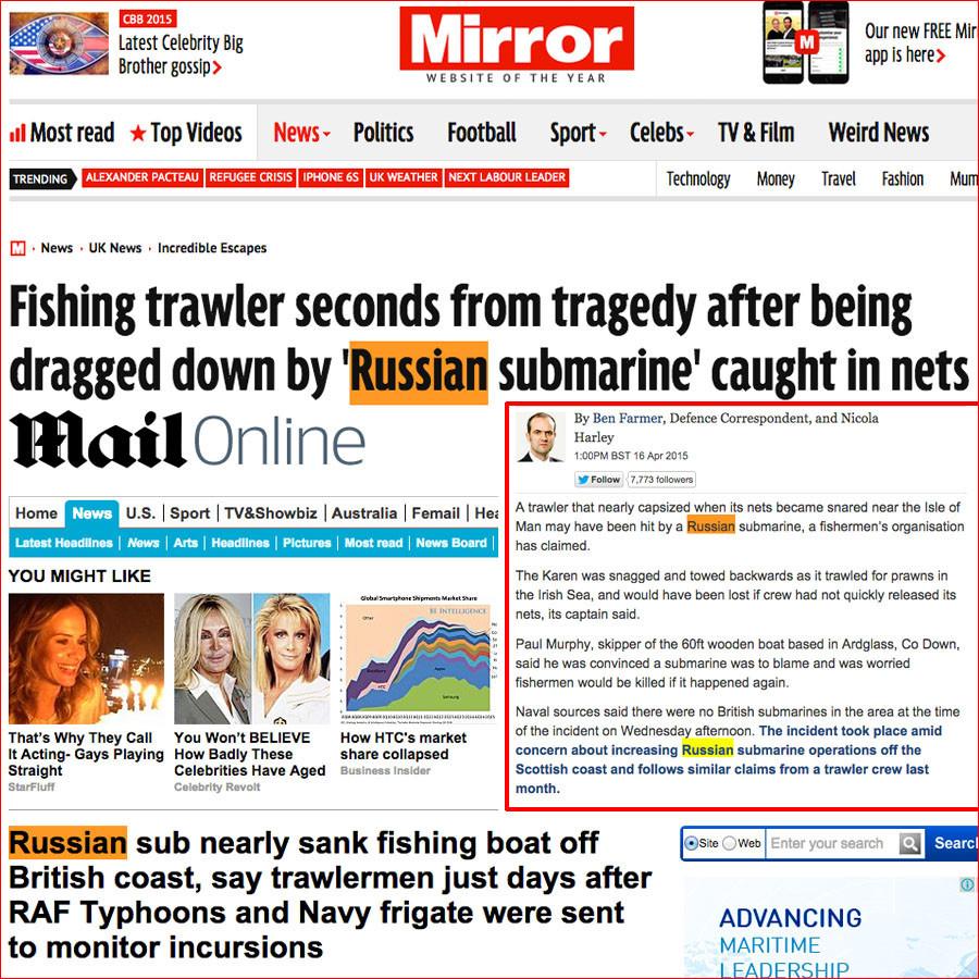 Londres admet que c'est un sous-marin britannique, et non russe, qui a endommagé son chalutier