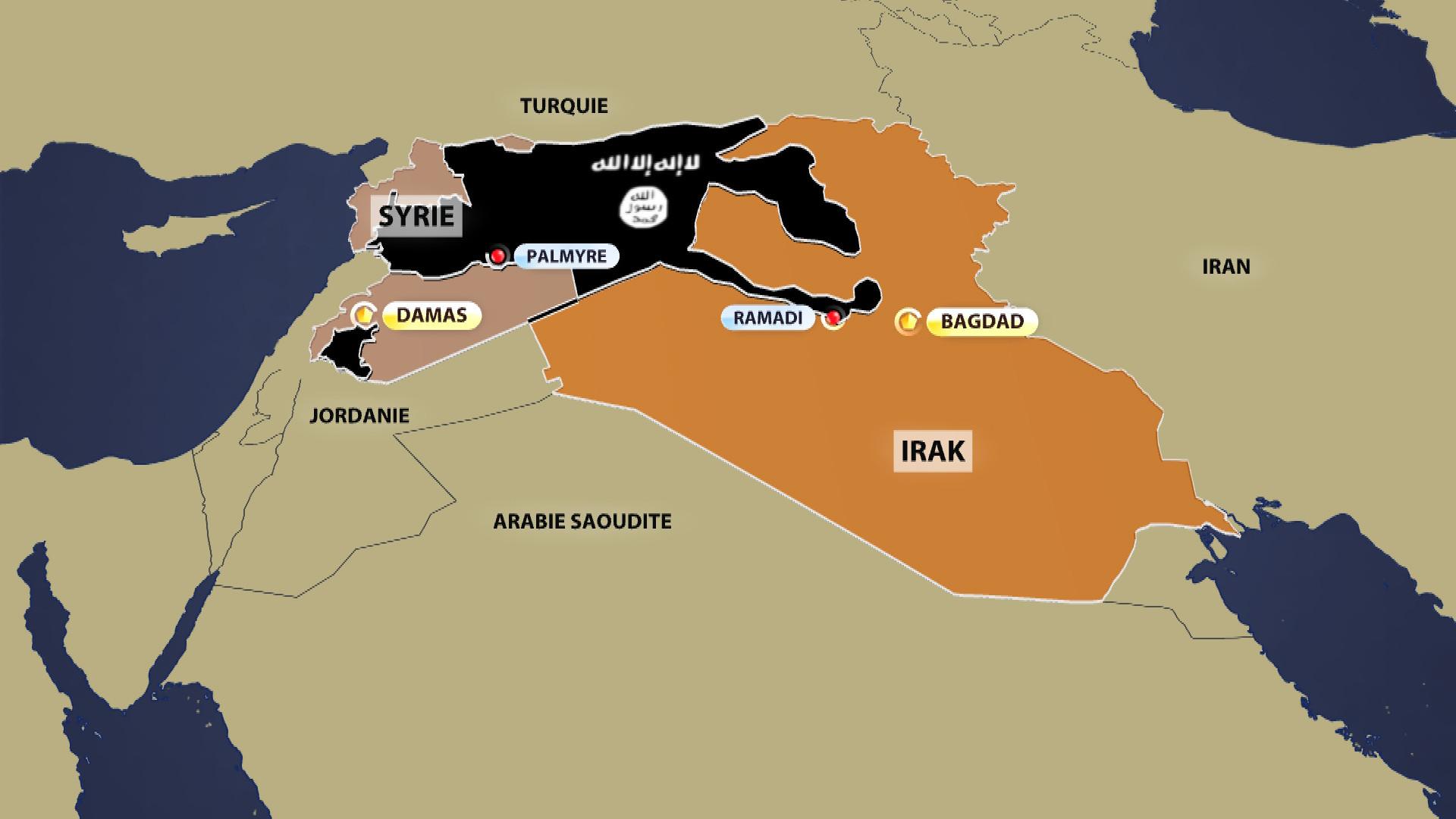 Carte de Daesh