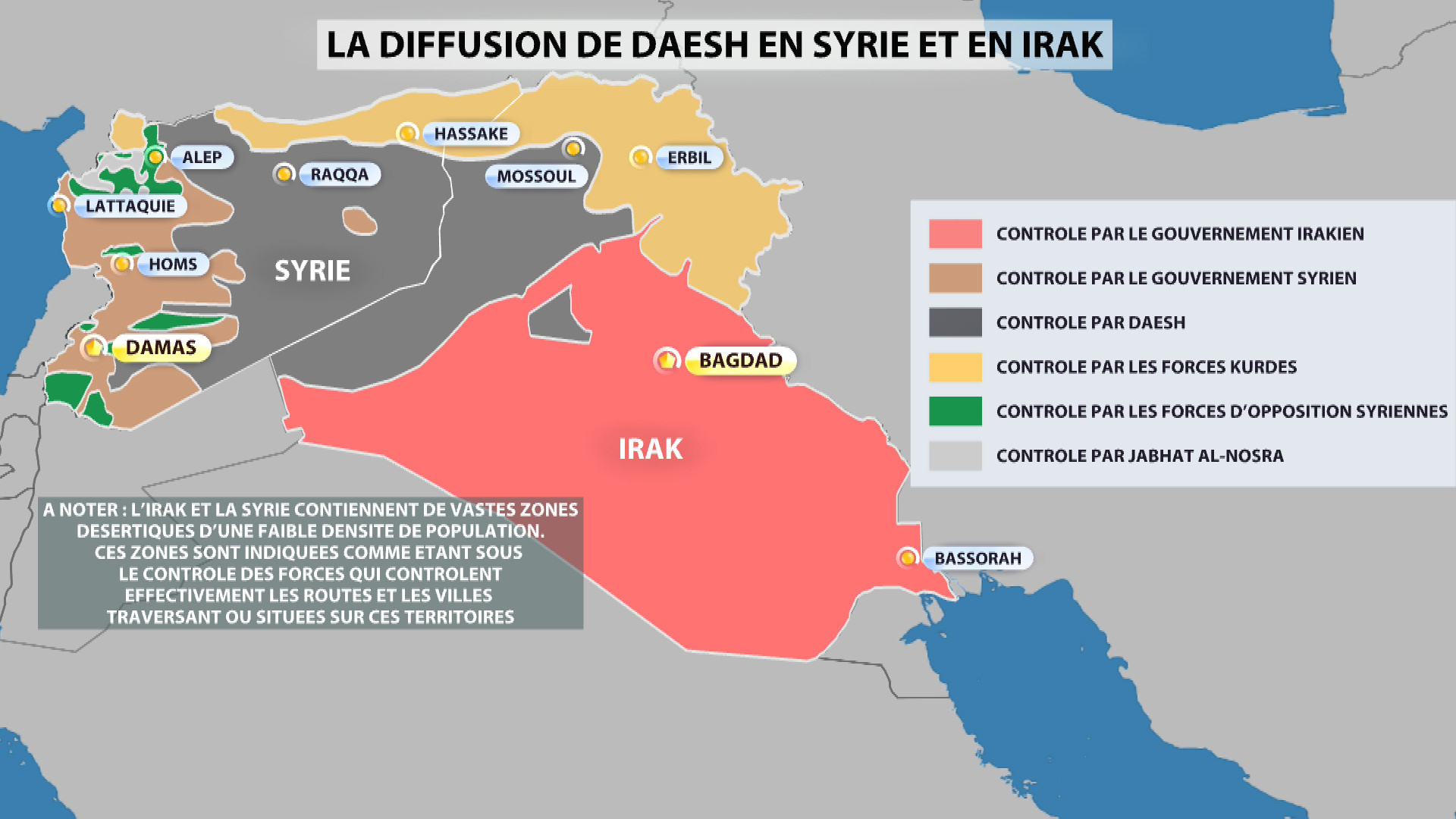 La diffusion de Daesh en Syrie et en Irak