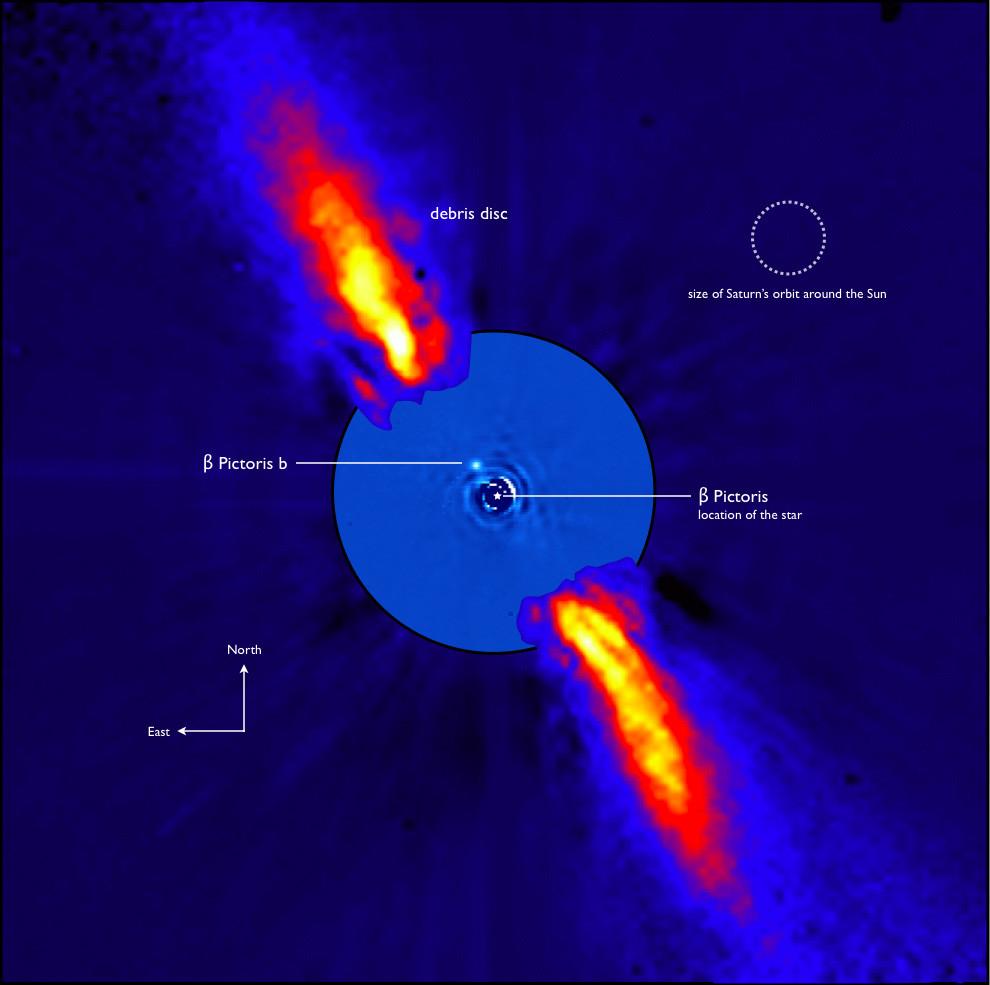 Image d'une planète de Beta Pictoris par l'Observatoire européen austral