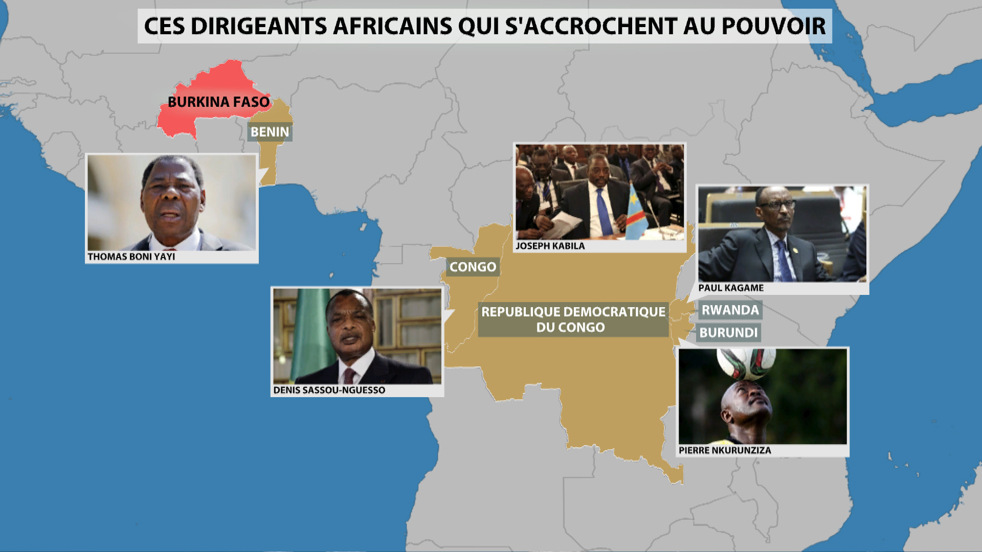 Ces dirigeants africains qui s'accrochent au pouvoir