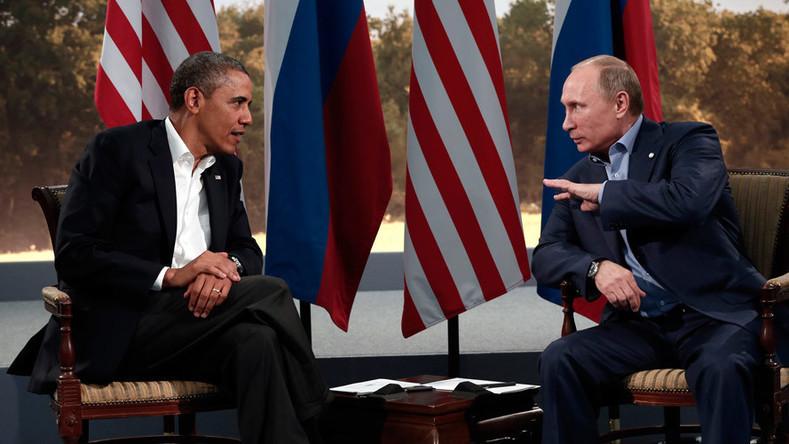 Vladimir Poutine et Barack Obama lors des négociations en 2013