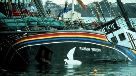Le navire «Rainbow Warrior», coulé le 10 juillet 1985 par les services secrets français.