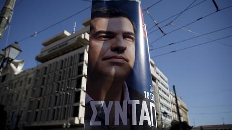 Une affiche électorale du leader du parti Syriza Alexis Tsipras