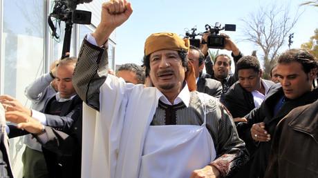 Le colonel Kadhafi en mars 2011.