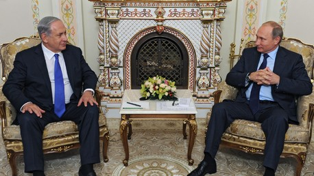 Benjamin Netanyahu et Vladimir Poutine à Moscou