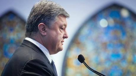 Porochenko compte évoquer l'envoi de casques bleus dans l'Est de l'Ukraine à l'ONU