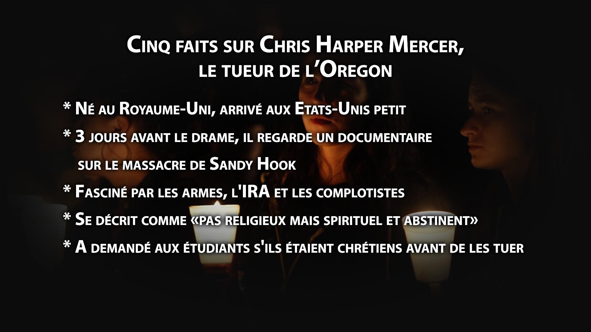Cinq faits sur Chris Harper Mercer, le tueur de l'Oregon
