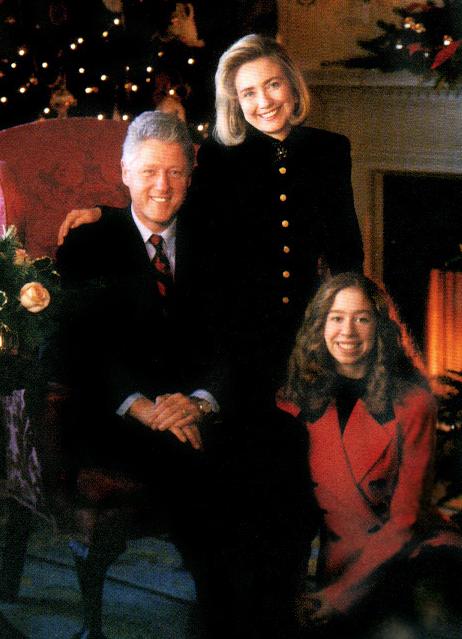 La famille Clinton (Bill, Hillary, Chelsea)
