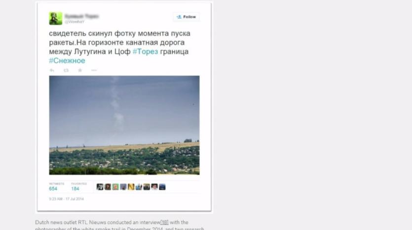En s'appuyant sur les «preuves» d'Internet, le site Bellingcat publie sa propre enquête sur le MH17
