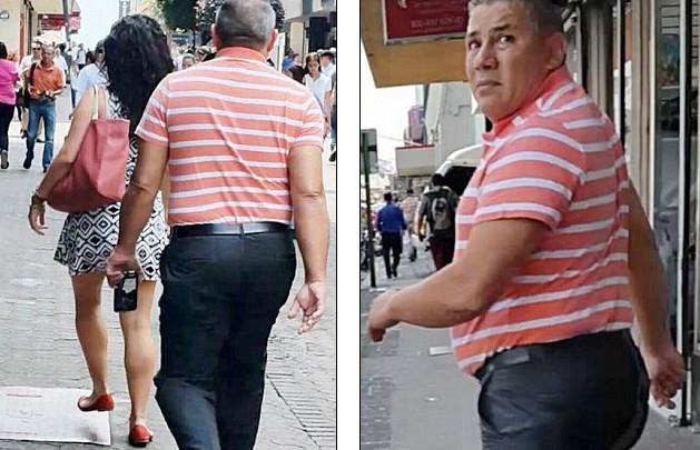 L'homme qui suit la jeune femme en essayant de filmer sous sa jupe s'est révélé être un fonctionnaire haut-placé au ministère des finances du Costa-Rica.