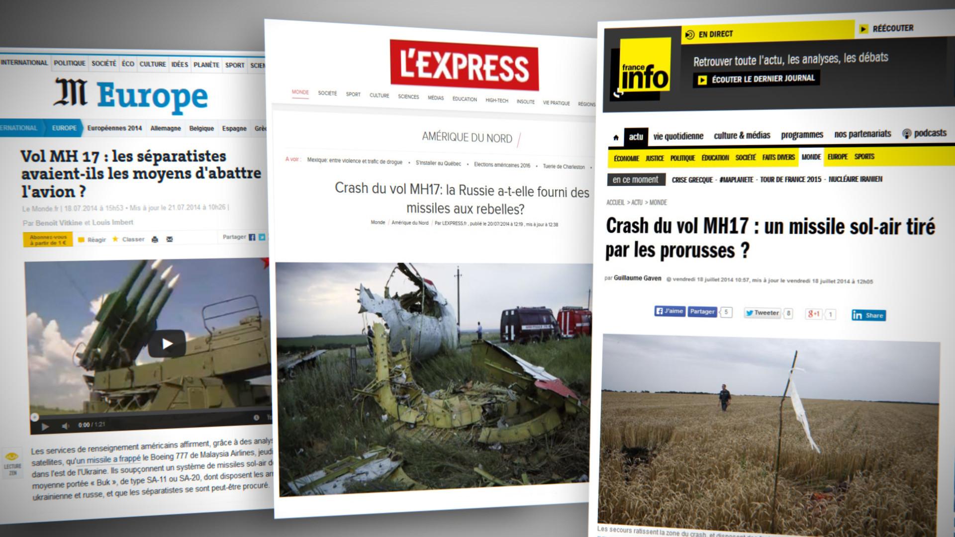 Les titres des médias français