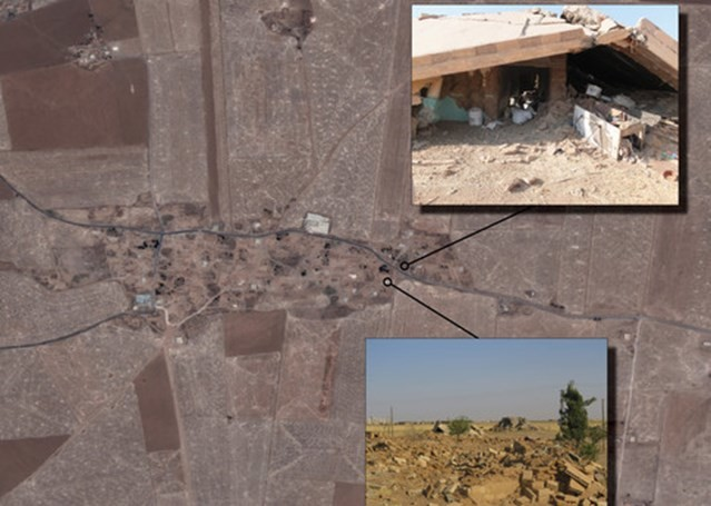 Photo satellite du village de Housseinya