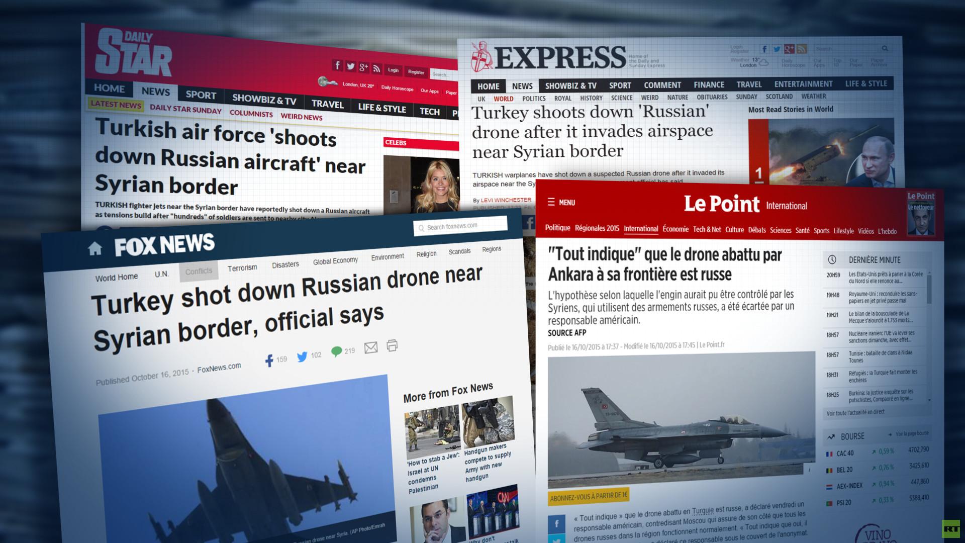 Un drone non-identifié abattu ? Pour les médias occidentaux c'est un drone russe, à coup sûr !