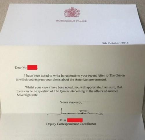 La réponse de Buckingham Palace