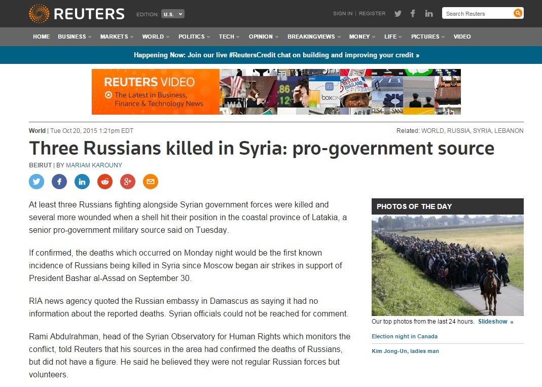 Défense russe : pas de pertes parmi les soldats russes en Syrie malgré les rumeurs