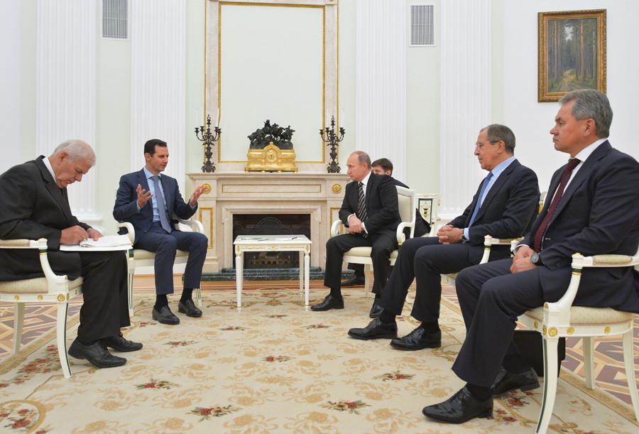 El-Assad à Moscou : sans l'intervention russe, les terroristes auraient de plus grands territoires