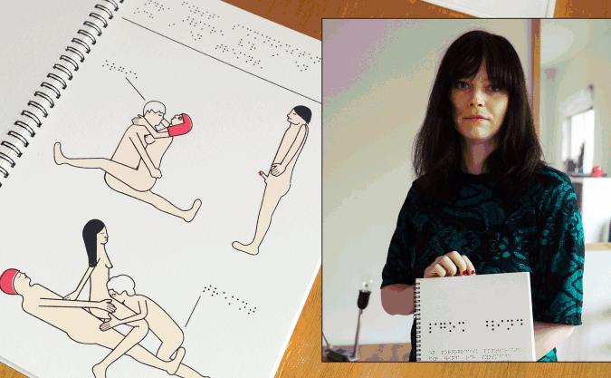 Un extrait du livre (à gauche) de Nina Linde (à droite).