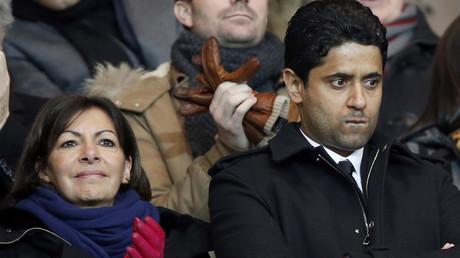Anne Hidalgo aux côtés de Nasser Al-Khelaïfi