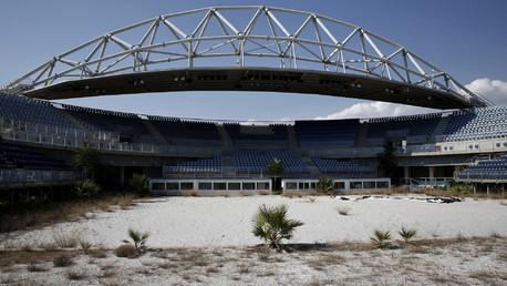 Un stade abandonné pour le volley-ball près d'Athènes
