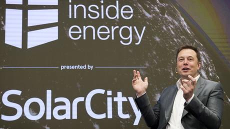 Elon Musk lors de sa présentation pour Solar City à New York
