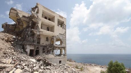 Le Palais présidentiel totalement détruit à Aden, Yémen