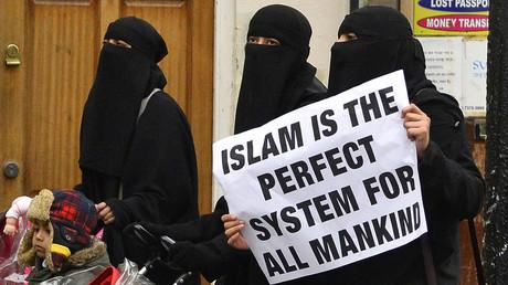 Manifestation à Londres pour l'instauration de la Shariah, en 2013