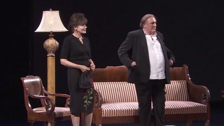 Gérard Depardieu et Fanny Ardant ravissent le public de Moscou