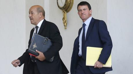 Jean-Yves Le Drian et Manuel Valls