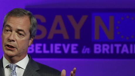 Nigel Farage, partisan de la sortie de l'Union Européenne