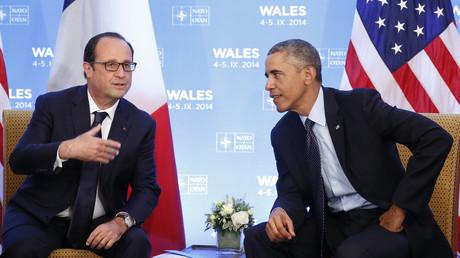Le président français François Hollande avec son homologue américain Barack Obama