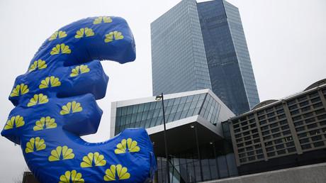 Le signe de l'euro devant le siège de la Banque centrale européenne