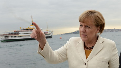 Angela Merkel durant sa visite en Turquie