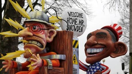 Une caricature représentant Edward Snowden aux côtés de Barack Obama