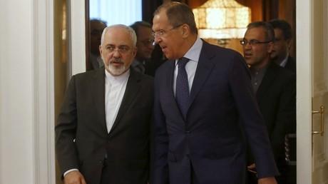 Le ministre des Affaires étrangères iranien Mohammed Javad Zarif et son homologue russe, Sergueï Lavrov.