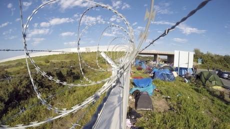La cloture anti-réfugiés en Hongrie, à la frontière serbe.