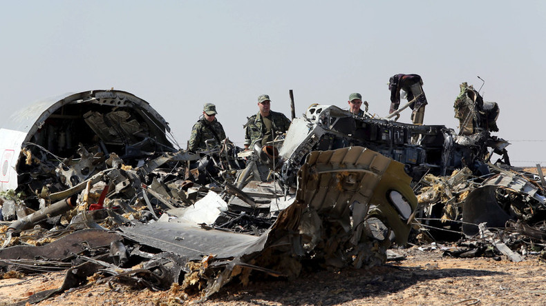 Le site du crash en Egypte