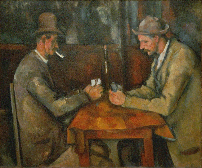 Les joueurs de cartes de Cézanne