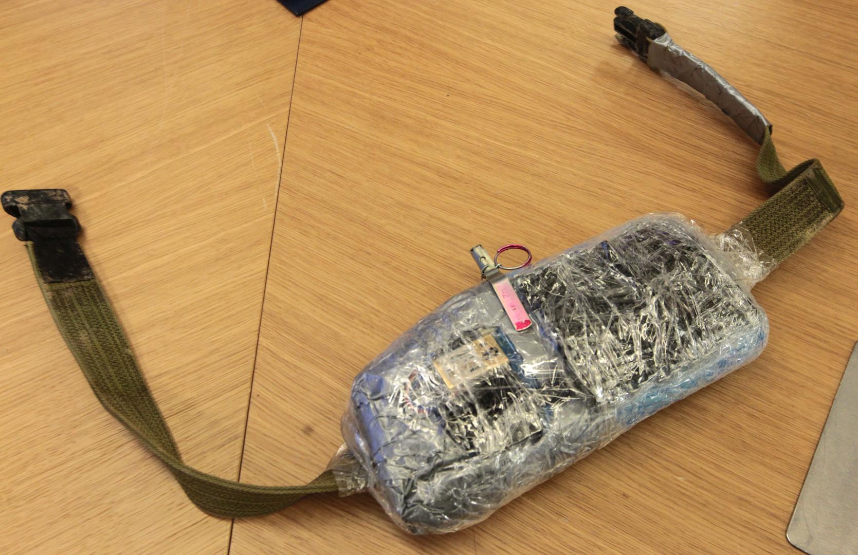 Une ceinture d'explosifs