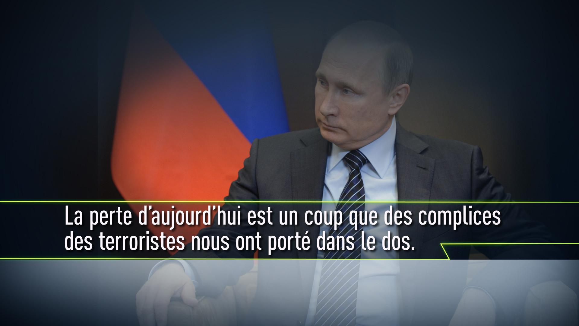 Les déclarations fortes de Vladimir Poutine à propos de la Turquie qui a abattu un Su-24 russe