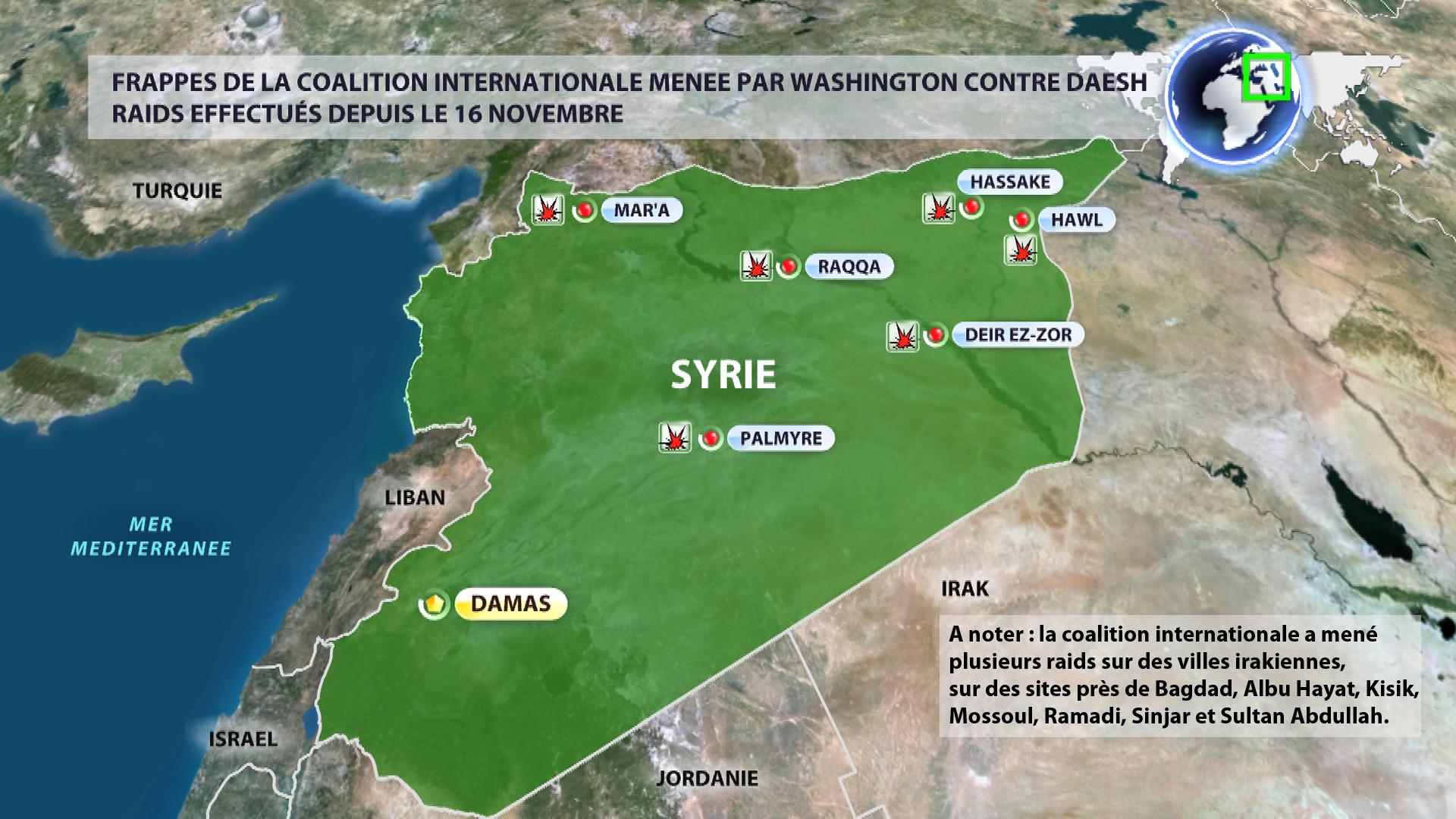 Qui frappe où en Syrie ? La réponse en image
